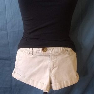 American Eagle Outfitters; Khaki Cuffed Shorts